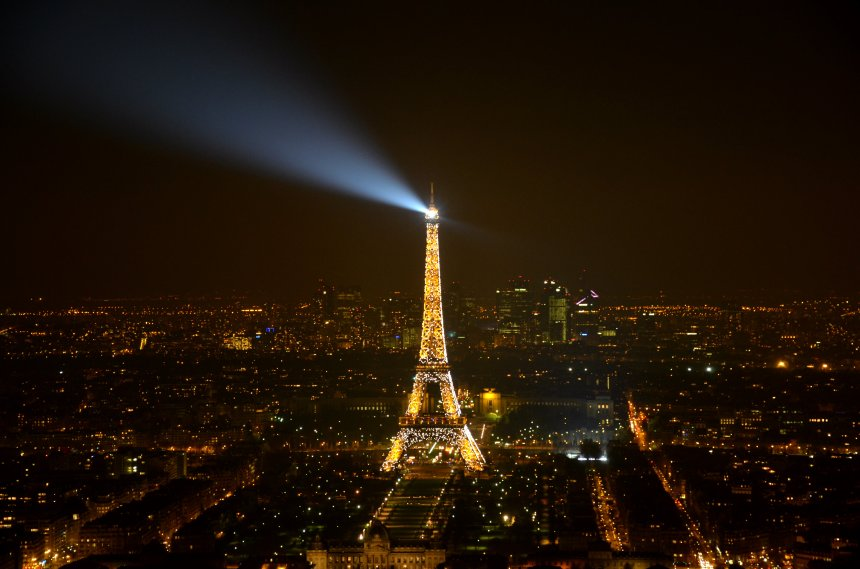 This is the view I enjoyed while sipping rose from the bar of the 56th floor of Montparnasse Tower. Casual.